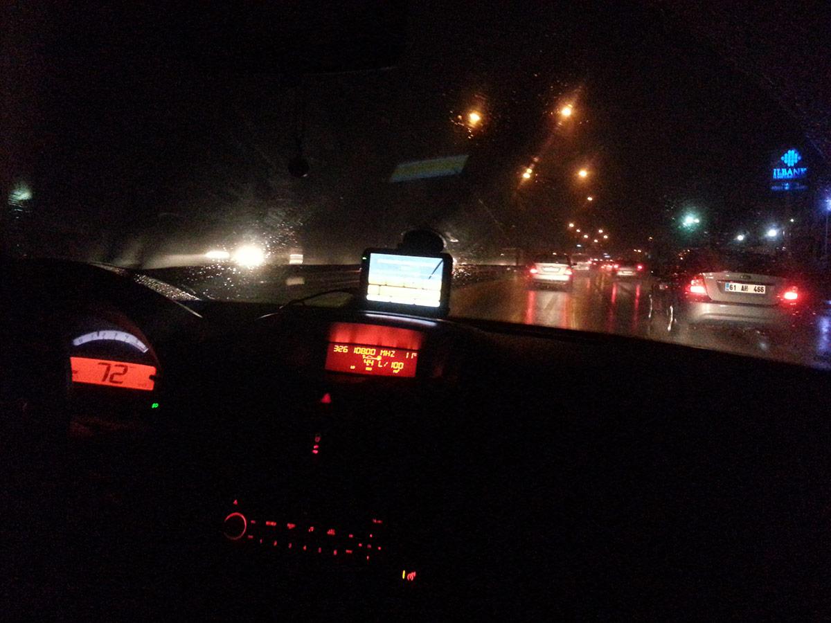 Citroen C3 Gece Sürüşü